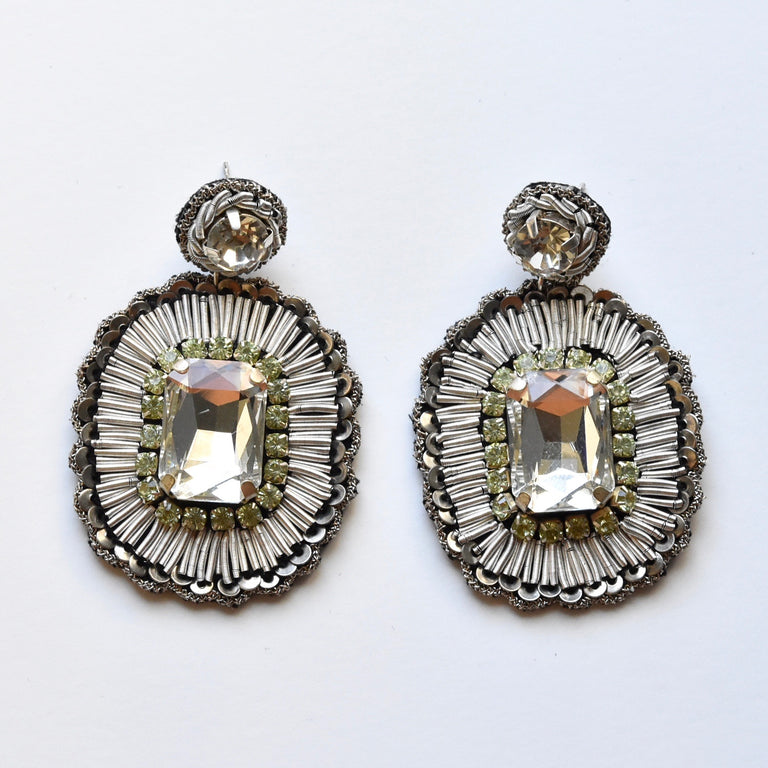 Crystal Statement Earrings - Goldmakers Fine Jewelry