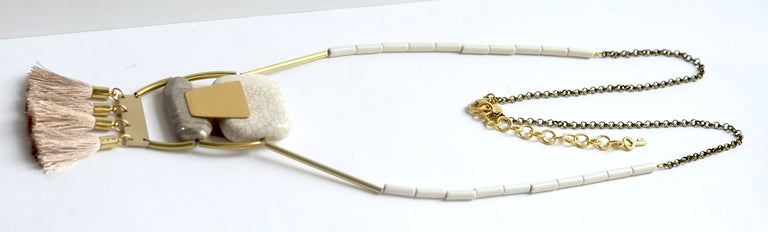 Marble and Magnesite Necklace - Goldmakers Fine Jewelry