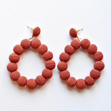 Rust Woven Bead Earrings - Goldmakers Fine Jewelry
