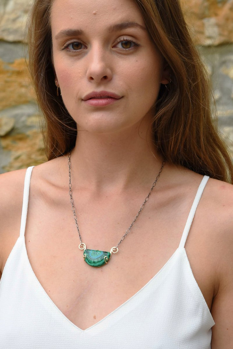 Malachite Island Necklace - Goldmakers Fine Jewelry