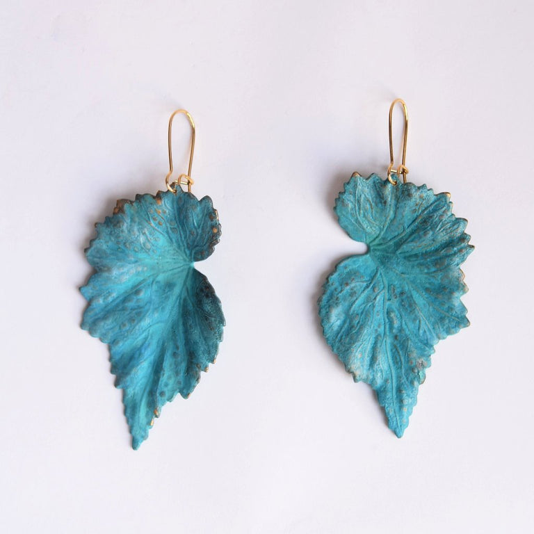 Patina Begonia Earrings - Goldmakers Fine Jewelry