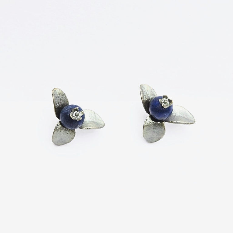 Blueberry Clip-On Earrings - Goldmakers Fine Jewelry
