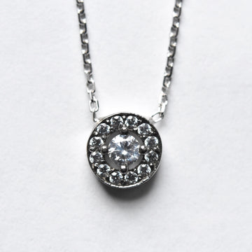 Pave CZ Necklace in Silver