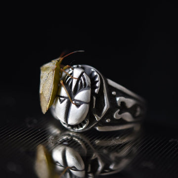 RA Egyptian Revival Ring in Silver - Goldmakers Fine Jewelry