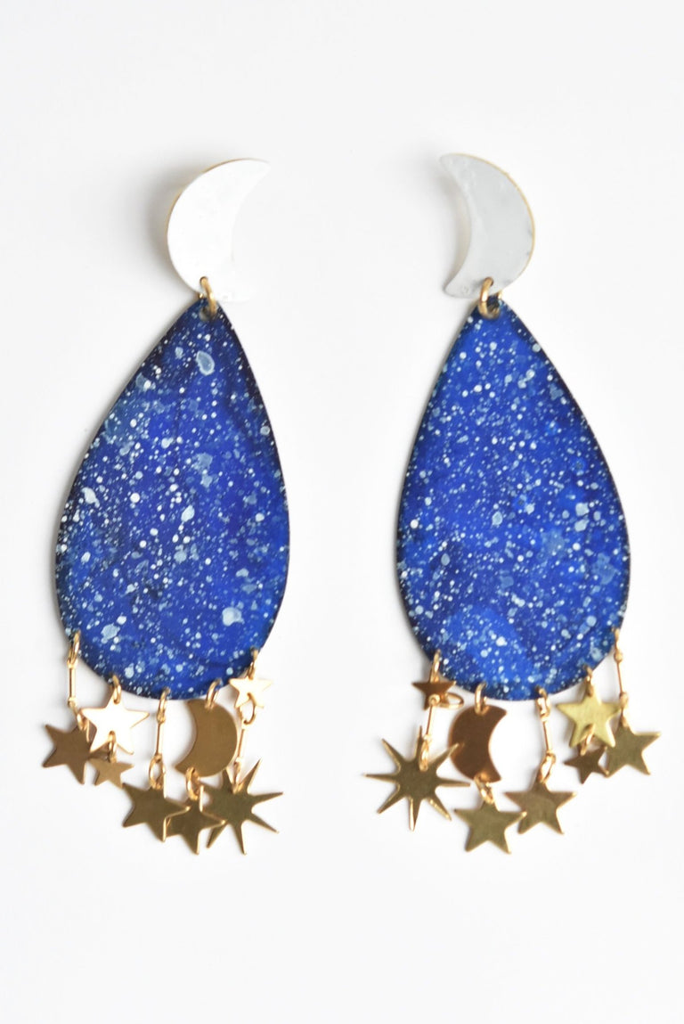 Galaxy Statement Earrings - Goldmakers Fine Jewelry