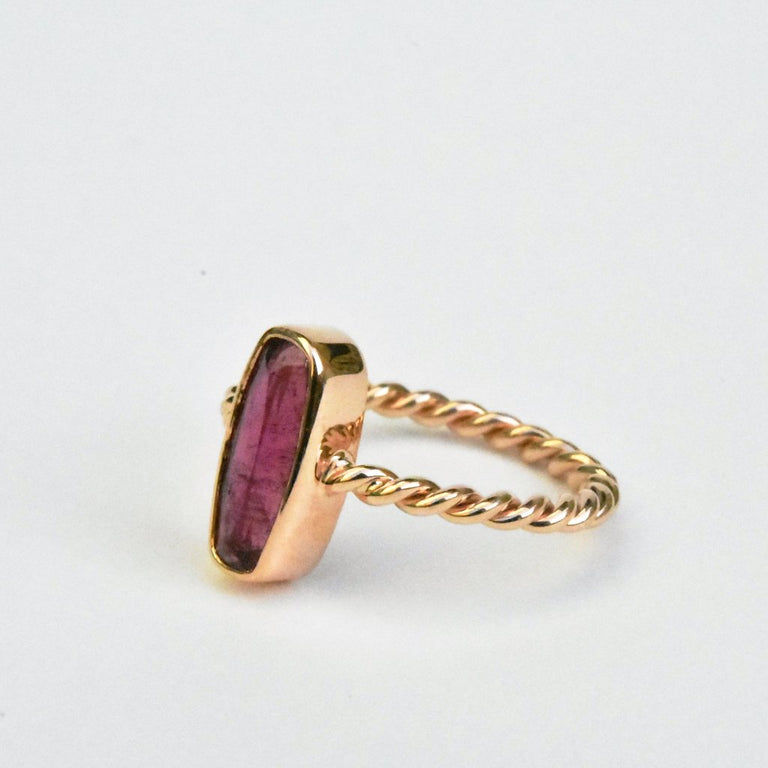Pink Tourmaline Ring in Rose Gold - Goldmakers Fine Jewelry