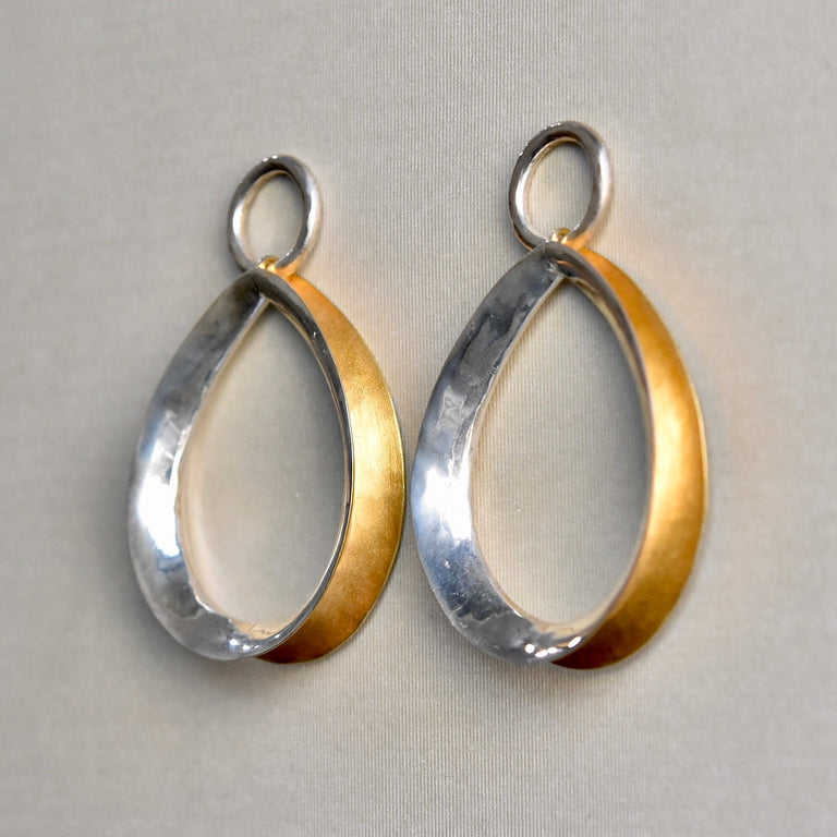 Vermeil Teardrop Hoops - Goldmakers Fine Jewelry