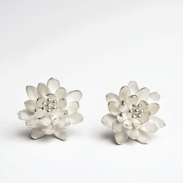 Waterlily Post Earrings - Goldmakers Fine Jewelry