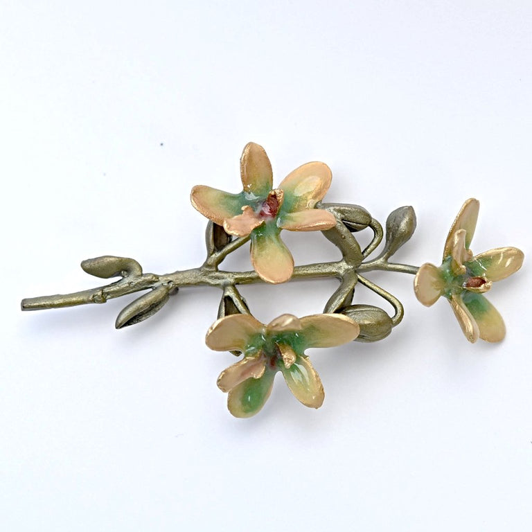 Cymbidium Orchid Brooch - Goldmakers Fine Jewelry