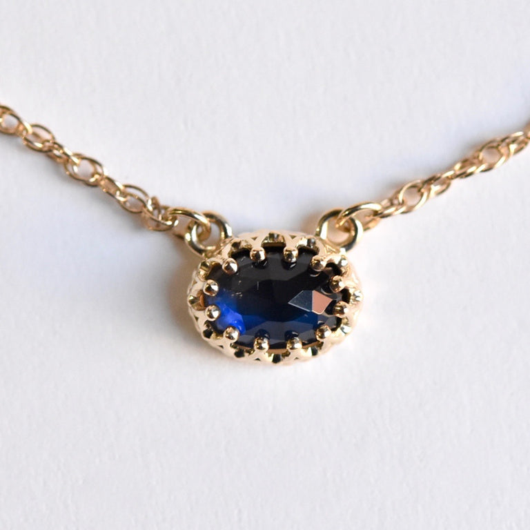 Blue Moonstone Necklace in Gold - Goldmakers Fine Jewelry
