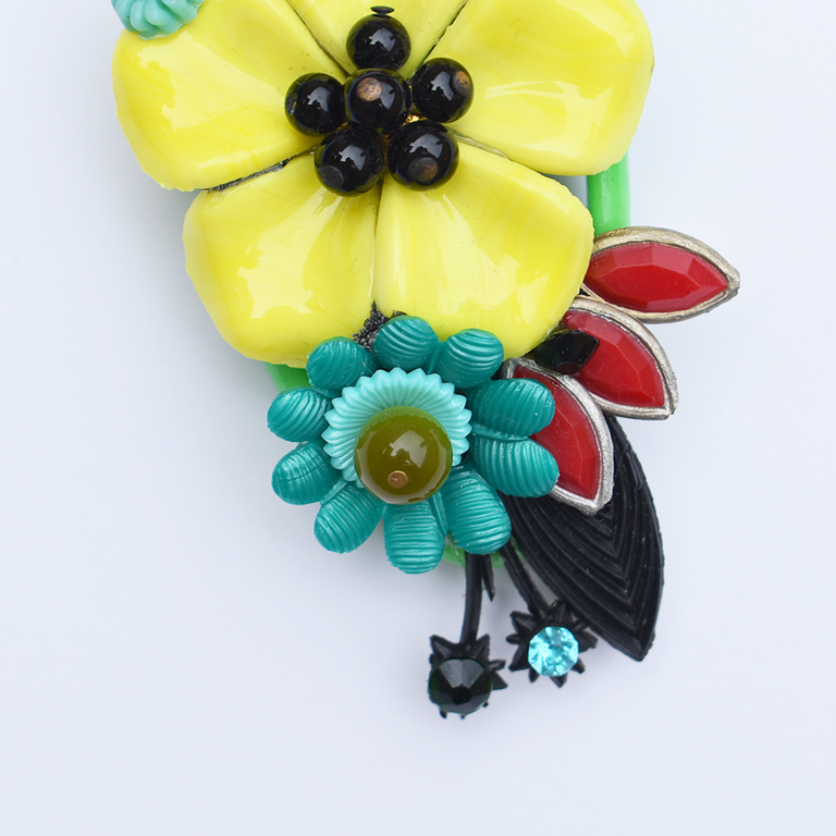 Tropical Brooch - Goldmakers Fine Jewelry
