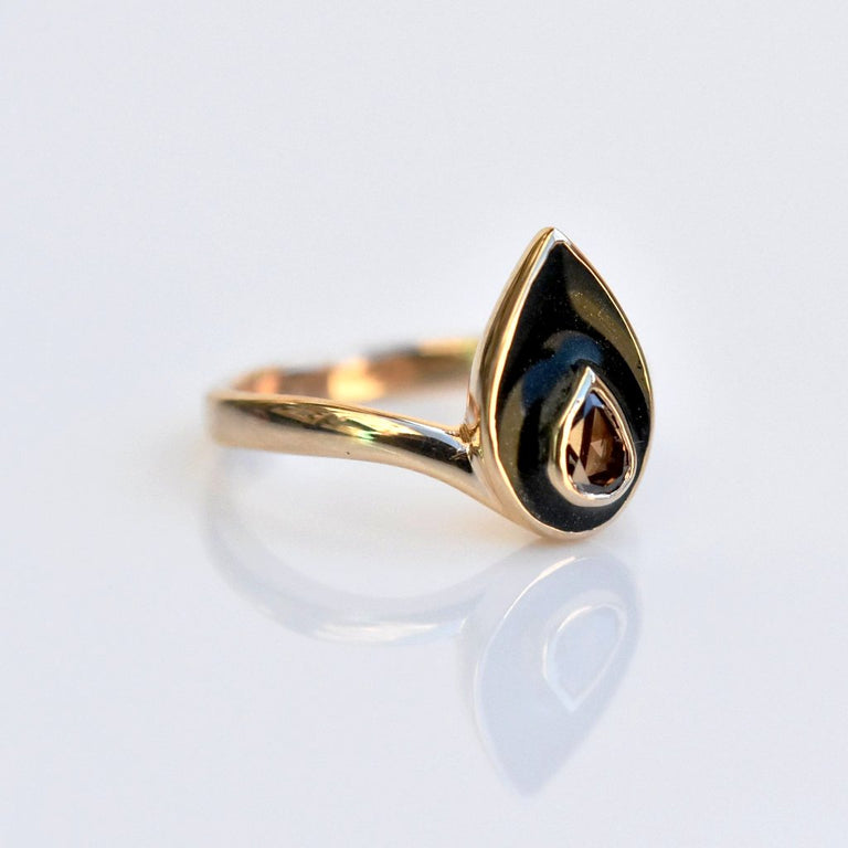 Golden Flame Engagement Ring - Goldmakers Fine Jewelry