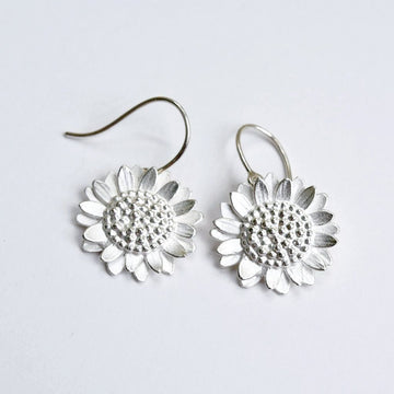 Sunflower Drop Earrings - Goldmakers Fine Jewelry