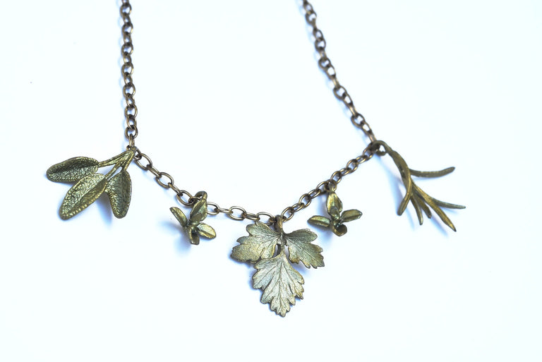 Petite Herb Necklace - Goldmakers Fine Jewelry