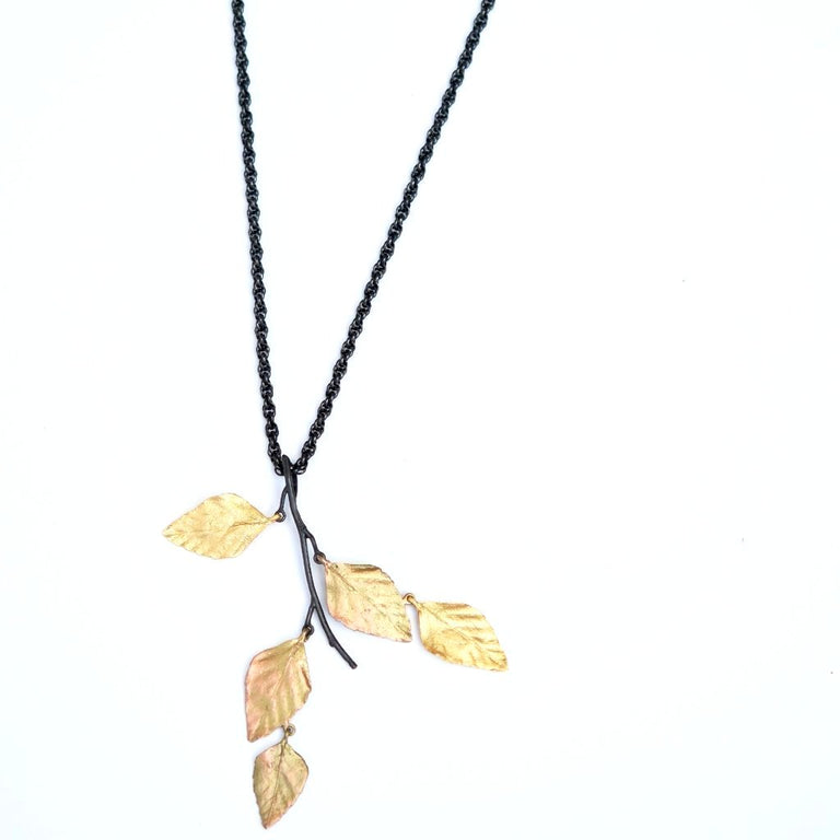 Autumn Birch Long Necklace - Goldmakers Fine Jewelry