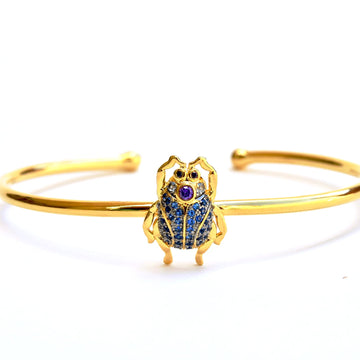Scarab Beetle Cuff Bracelet - Goldmakers Fine Jewelry