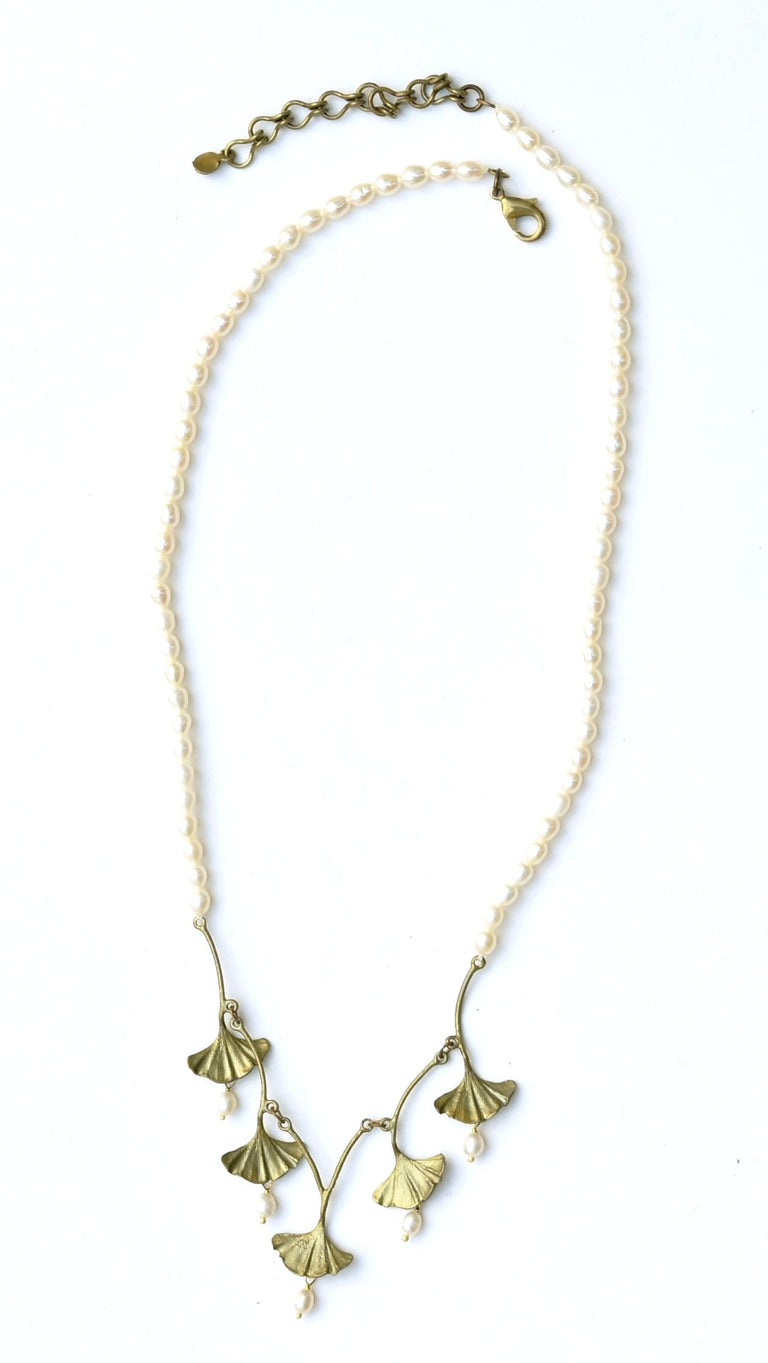 Ginkgo Pearl Collar - Goldmakers Fine Jewelry