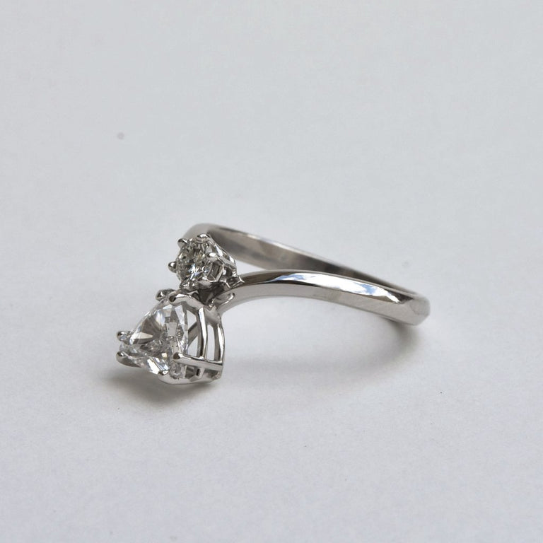 Diamond Trillion Engagement Ring - Goldmakers Fine Jewelry