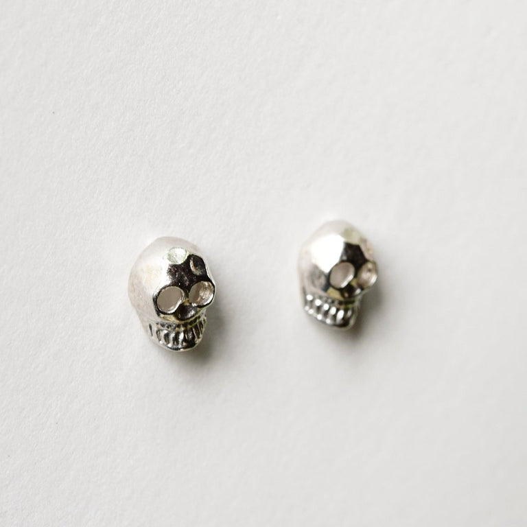 Memento Mori Posts in Silver - Goldmakers Fine Jewelry