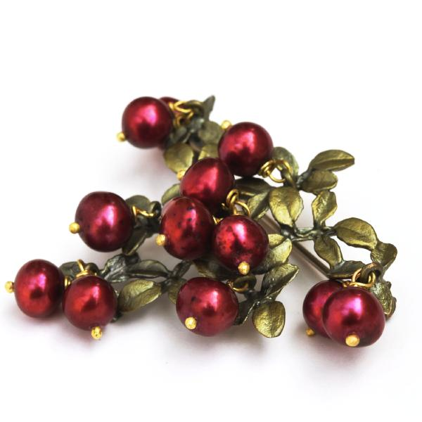 Cranberry Brooch - Goldmakers Fine Jewelry