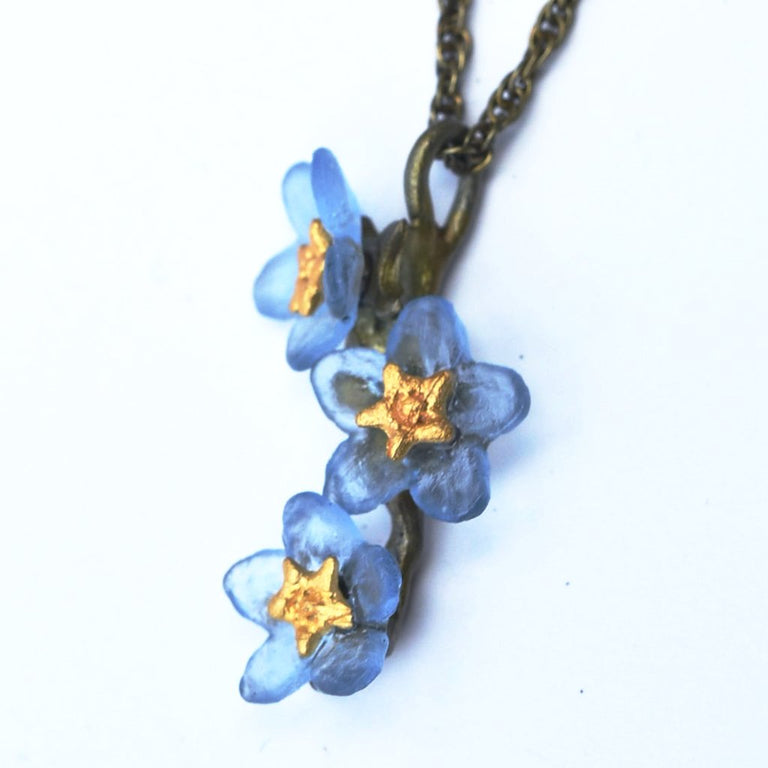 Forget Me Not Pendant Necklace - Goldmakers Fine Jewelry