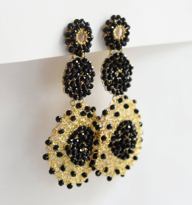 Macrame Drop Earrings - Goldmakers Fine Jewelry