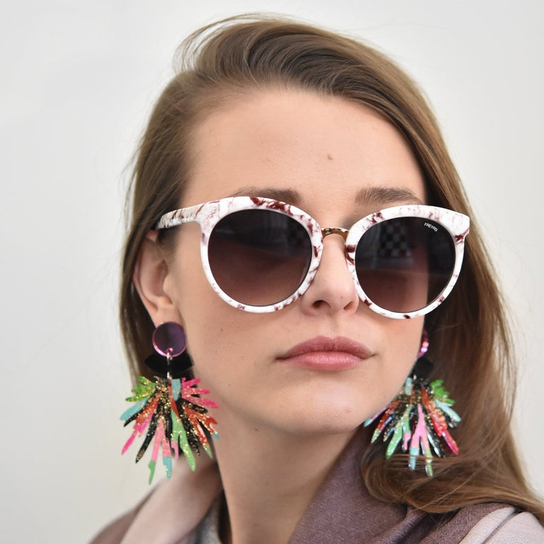 Pom Pom Statement Post Earrings - Goldmakers Fine Jewelry