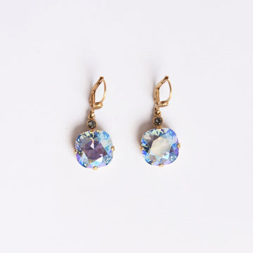Classic Crystal Paradise Shine Gold Drop Earrings - Goldmakers Fine Jewelry