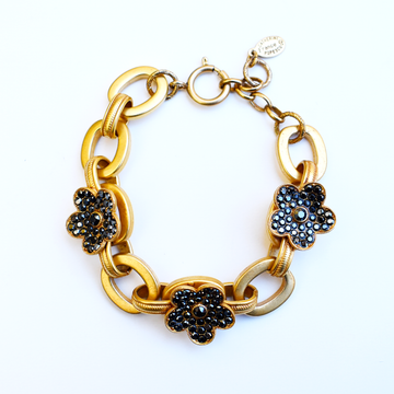 Dark Flower Bracelet - Goldmakers Fine Jewelry