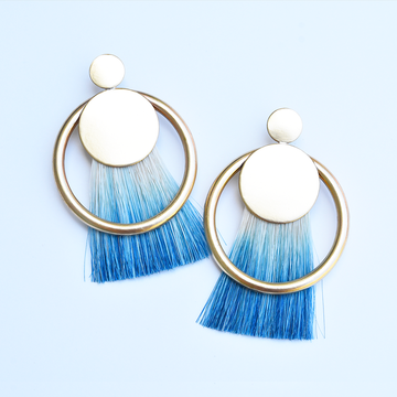 Diana Rose Indigo Post Earrings - Goldmakers Fine Jewelry