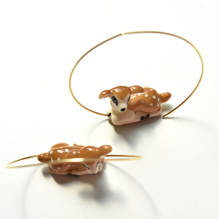 Doe Hoop Earrings - Goldmakers Fine Jewelry