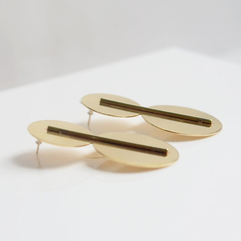Polished Disk Earrings - Goldmakers Fine Jewelry