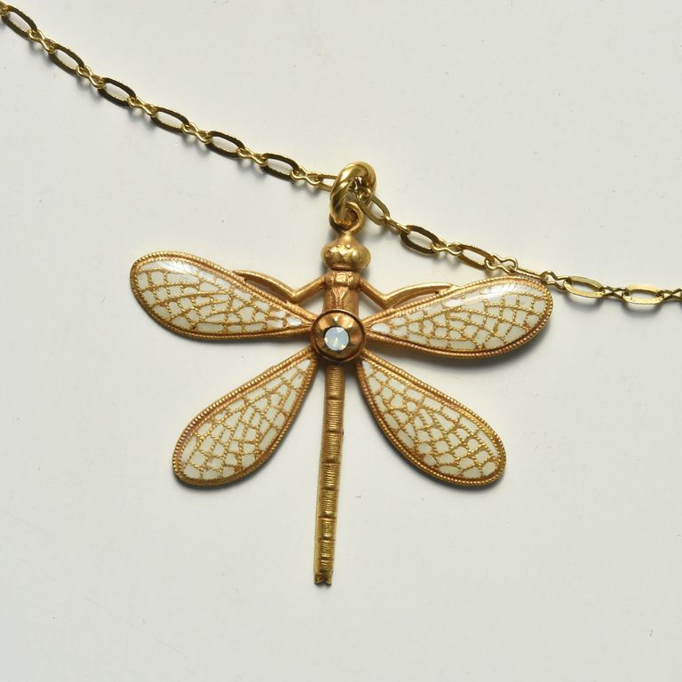 Dragonfly Necklace - Goldmakers Fine Jewelry