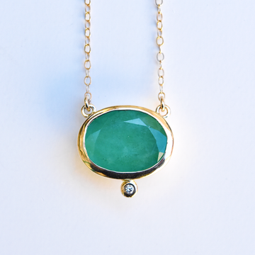Emerald Necklace in Gold - Goldmakers Fine Jewelry