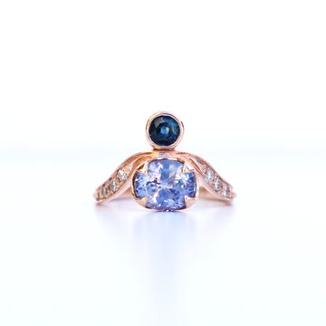 Empress Rose Gold Ring in Violet Sapphire - Goldmakers Fine Jewelry