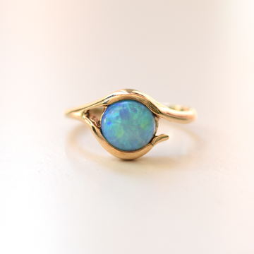 Ethiopian Opal Ring in Gold - Goldmakers Fine Jewelry