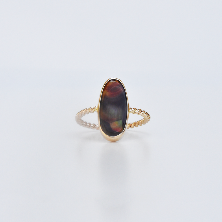 Fire Agate Ring in Gold - Goldmakers Fine Jewelry