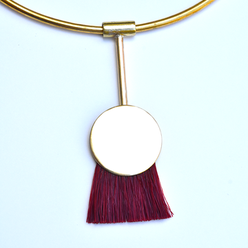 Firebird Collar in Sandalwood - Goldmakers Fine Jewelry