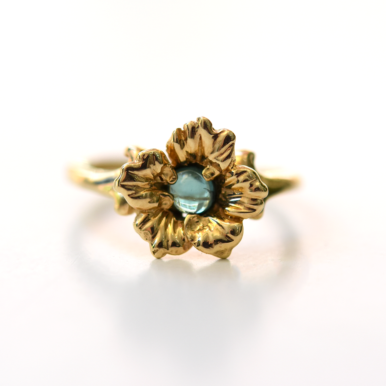 Flower Tourmaline Ring in Yellow Gold - Goldmakers Fine Jewelry