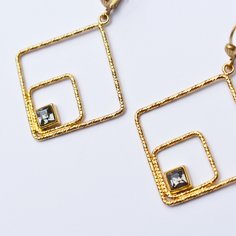 Geometry French Wire Earrings - Goldmakers Fine Jewelry