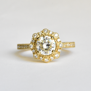 Georgina Diamond Engagement Ring - Goldmakers Fine Jewelry