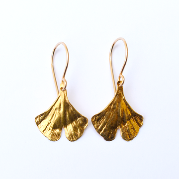 Ginkgo French Wire Earrings in Gold Vermeil - Goldmakers Fine Jewelry