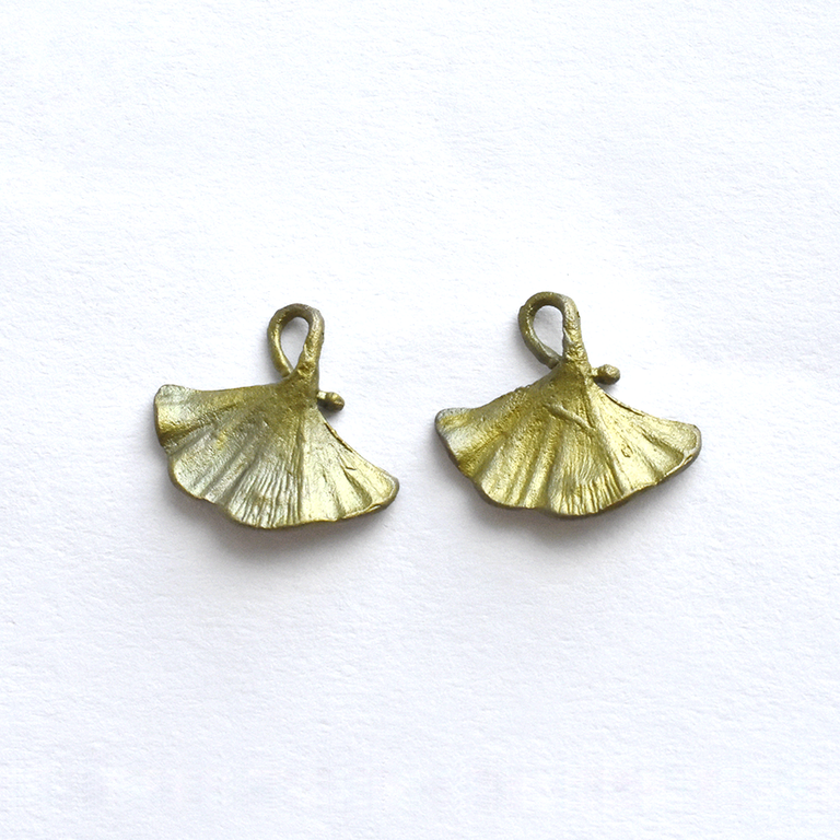 Ginkgo Post Earrings - Goldmakers Fine Jewelry