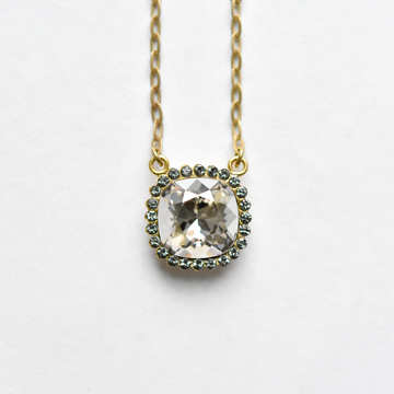 Gold Crystal Necklace - Goldmakers Fine Jewelry