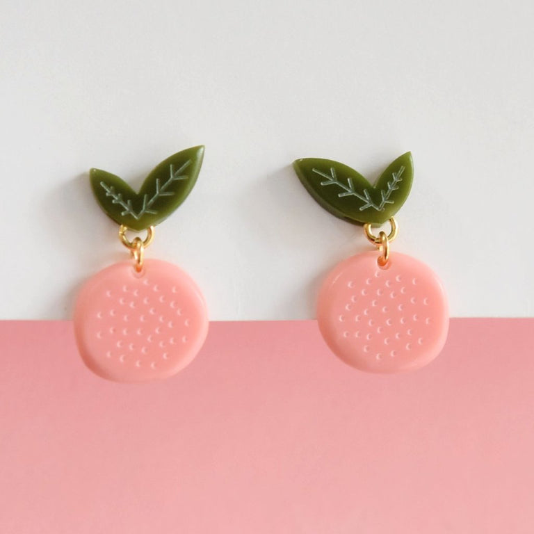 Grapefruit Posts - Goldmakers Fine Jewelry