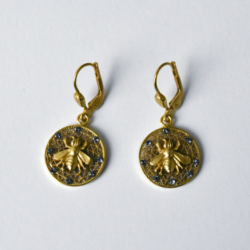 Crystal Bee Drops - Goldmakers Fine Jewelry