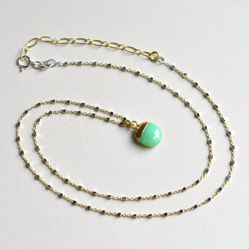 Green Onyx Necklace - Goldmakers Fine Jewelry