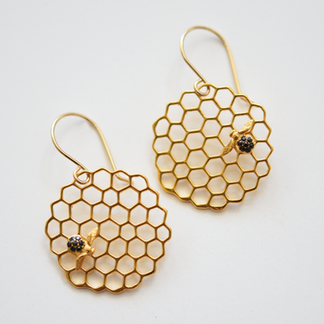 Honeycomb Wire Earrings - Goldmakers Fine Jewelry