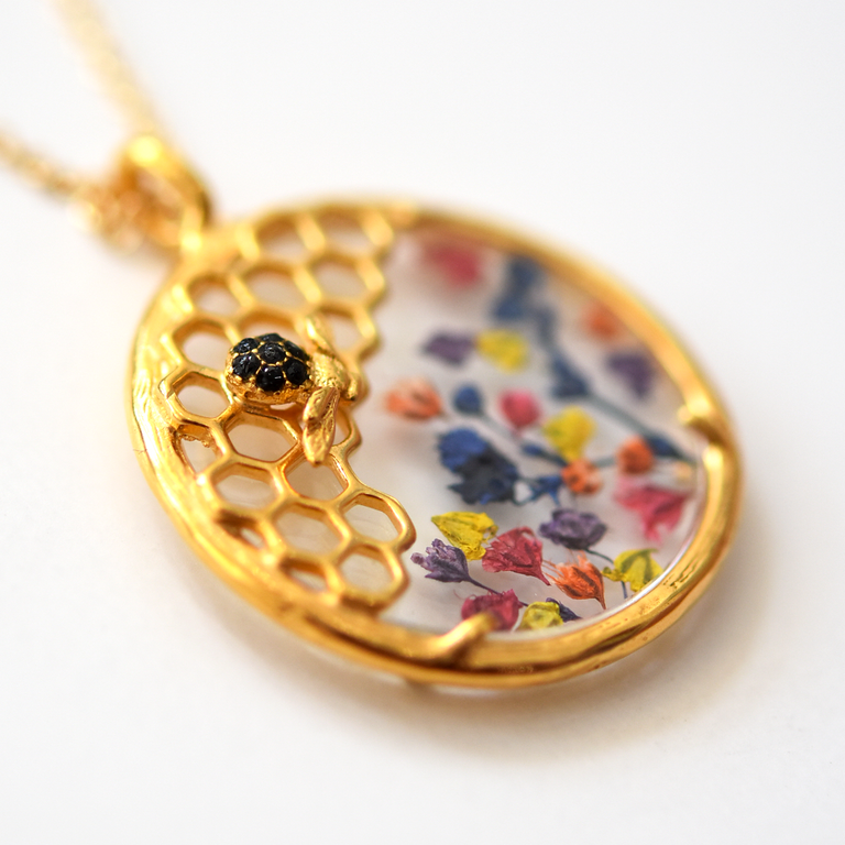 Honeycomb Necklace - Goldmakers Fine Jewelry