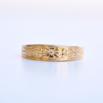 Victorian Daisy Band in Gold - Goldmakers Fine Jewelry